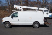 #7897 2002 FORD E350 VAN; 1997 TELSTA BUCKET MODEL A280