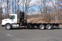 #8030 2002 VOLVO VHD64B; HIAB KNUCKLEBOOM MODEL 300-4