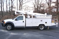 #8018 2007 FORD F550 SUPERDUTY 4X4; ALTEC BUCKET MODEL AT37G