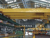 Overhead double beam crane QC with electromagnet (made in China)