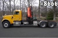 8666 – 06 FREIGHTLINER PALFINGER KNUCKLE BOOM CRANE TRUCK; 9 TON