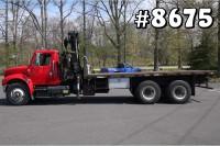 8675 – INTERNATIONAL HIAB KNUCKLE BOOM CRANE TRUCK; 7.5 TON